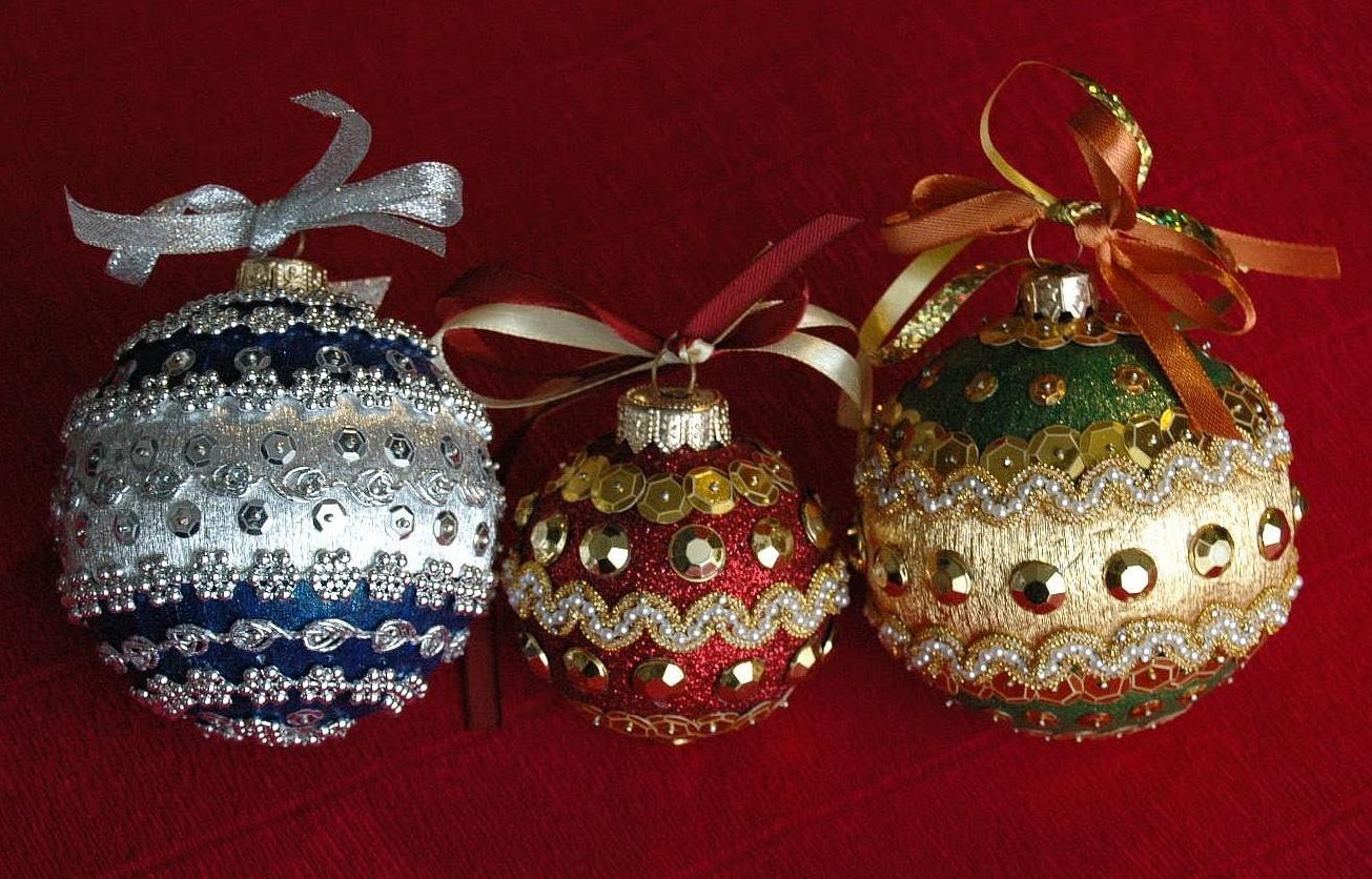 Изготовление ёлочных шаров своими руками