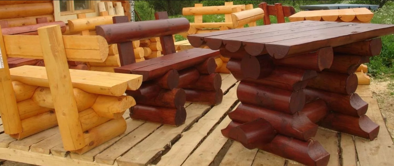 бизнес на изготовлении мебели из бревен