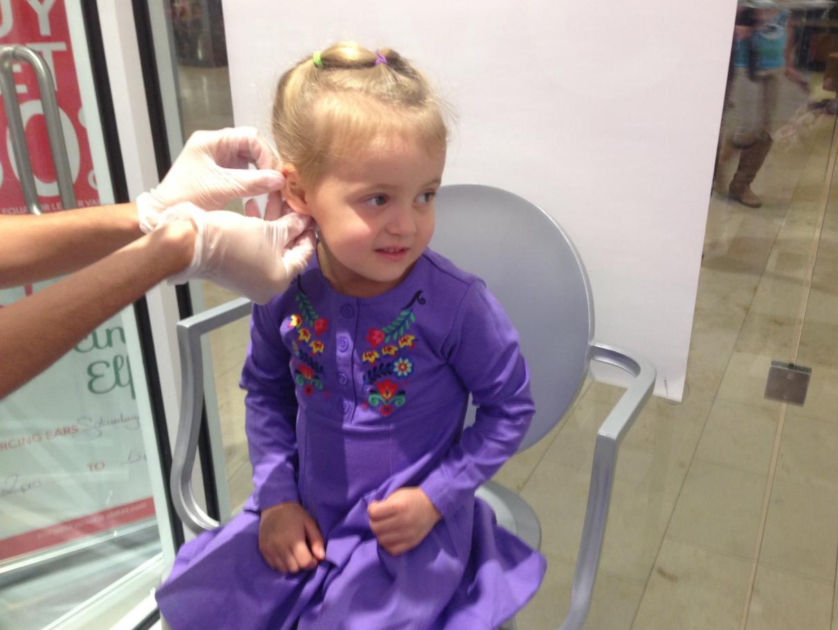 бизнес по оказанию услуги прокола ушей для малышей