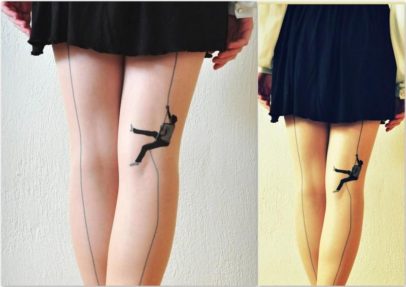 бизнес-идея татуировки на колготках